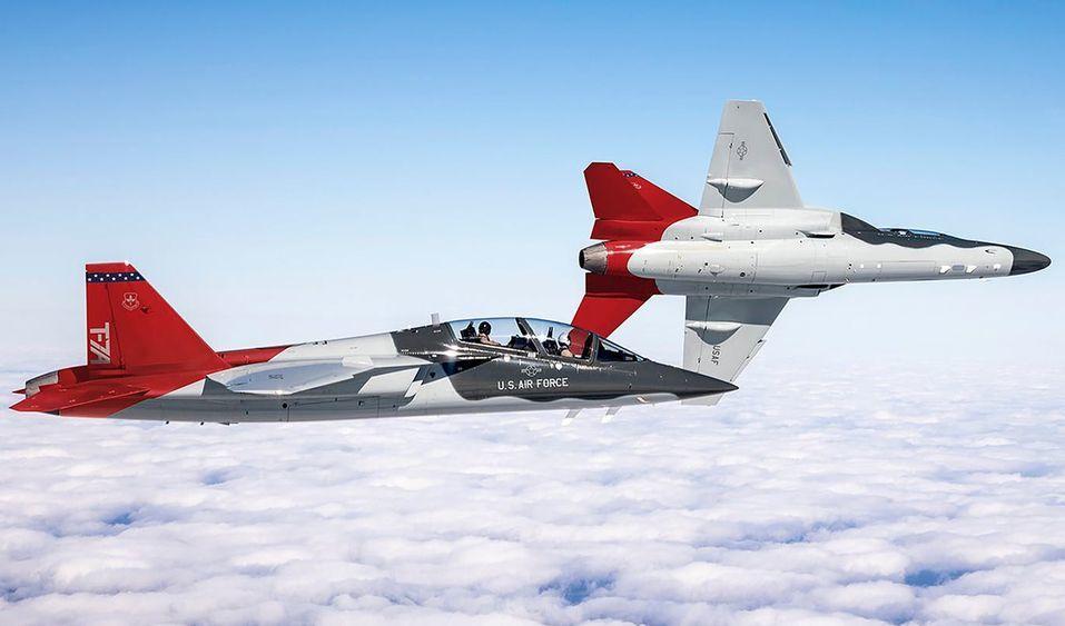 美國空軍下一代的高級教練機T-7「紅鷹」。圖/波音公司網站