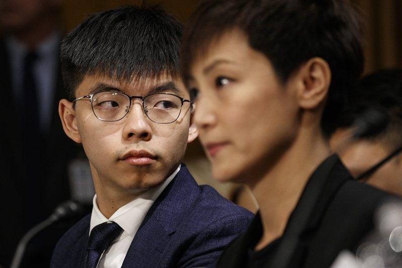 何韻詩、黃之鋒等香港民運人士遠赴美國國會作證,呼籲美國協助推動《香港人權及民主法案》立法。 圖/美聯社