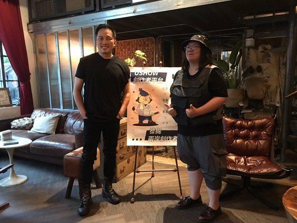 錢人豪導演(左)與李依庭導演合影。  USHOW/提供