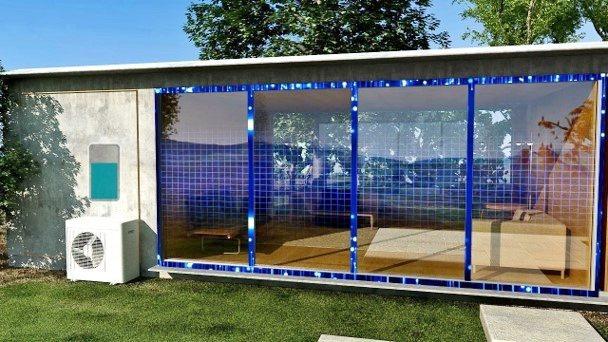 海柏斯的「直接熱充電電池」的應用,包括吸收窗戶升溫及冷氣運轉的餘熱,轉為電能供應...