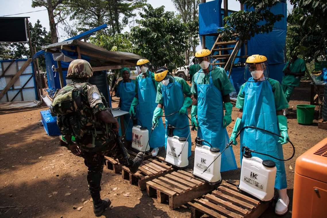 「2018-19伊波拉病毒大流行」,主要疫區集中在非洲中部的剛果民主共和國(DR...