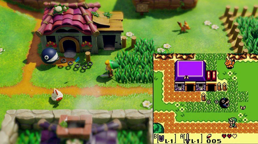 高度還原後,才知道原本以為的狗是狐狸...(右圖為Game Boy Color的...