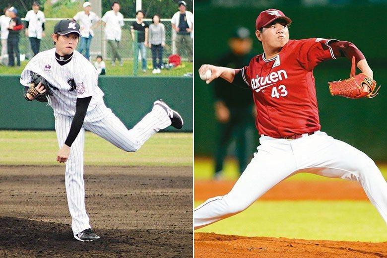 今年最後能打進洋聯季後賽的台灣球員,會是羅德的陳冠宇(左),還是樂天的宋家豪(右...