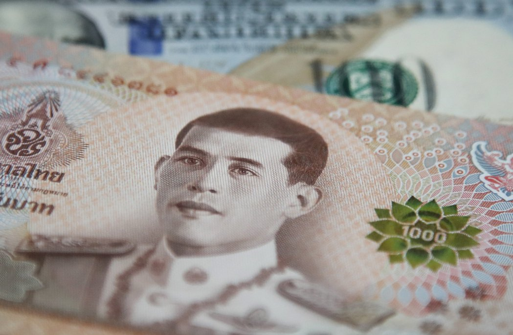 泰銖是今年以來表現最佳的亞洲貨幣。  歐新社