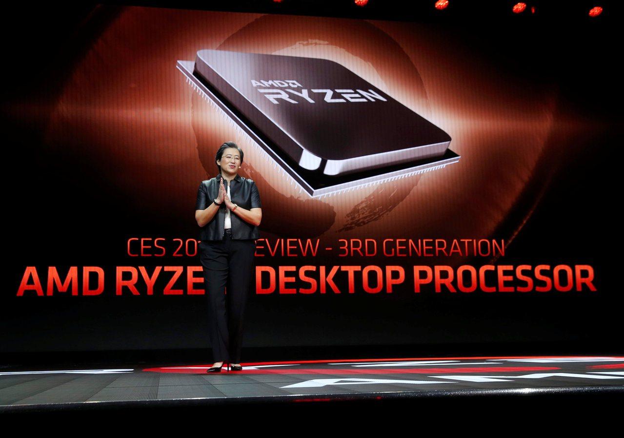 AMD執行長蘇姿丰在今年1月拉斯維加斯消費電子展上介紹第三代Ryzen處理器。 ...