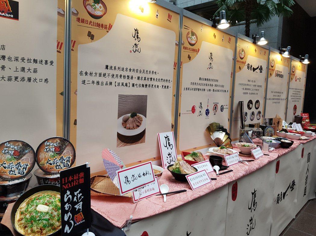 北市府今天公布「台北市食材登錄平台」新增連鎖日式拉麵專區、傳統市場專區,同時頒發...