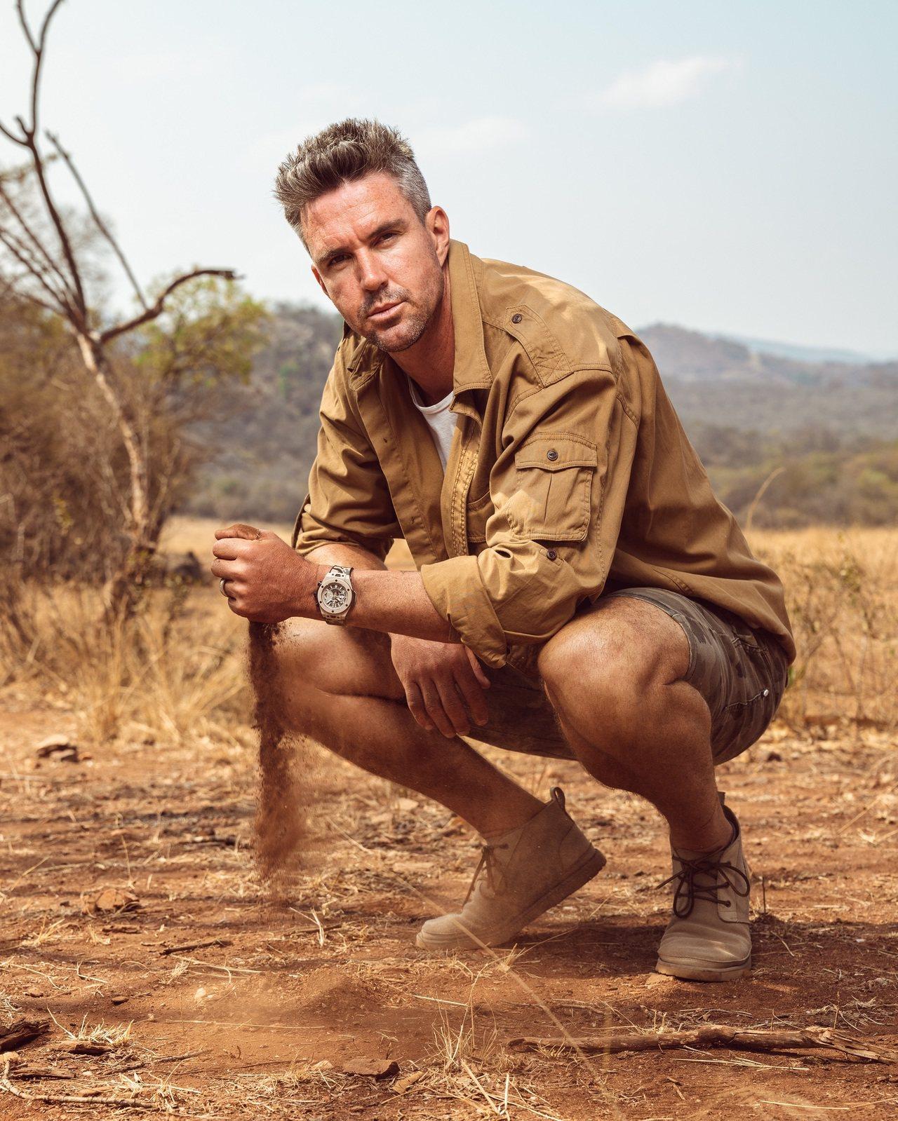 退役的板球好手同時也是宇舶表品牌大使的Kevin Pietersen,演繹了限量...