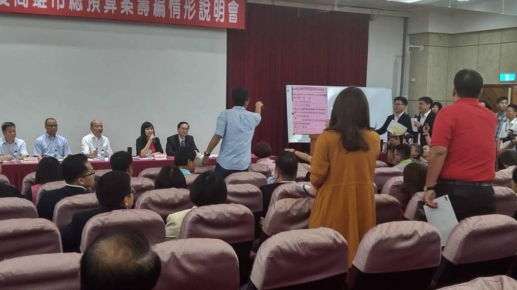 高雄市長韓國瑜今到議會說明預算編列情形。記者蔡孟妤/攝影