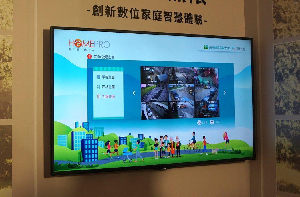 透過A1平台整合其他居家防護服務,用電視就能隨選查看。記者黃筱晴/攝影
