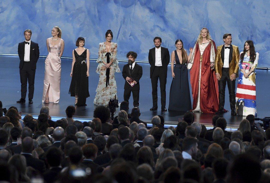 「冰與火之歌:權力遊戲」演員出席第71屆艾美獎。 圖/美聯社