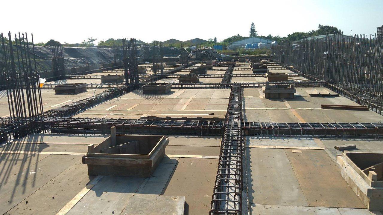 列入前瞻基礎建設的鹿港福興污水系統正在施工中。圖/彰化縣政府提供