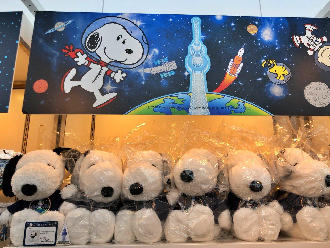 晴空塔天望回廊舉行太空人史努比展覽。記者魏妤庭/攝影