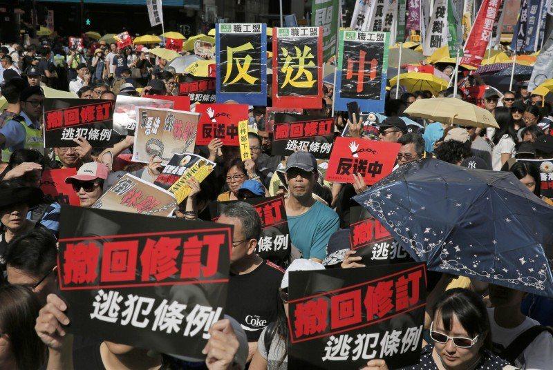 香港反送中風波未平。美聯社
