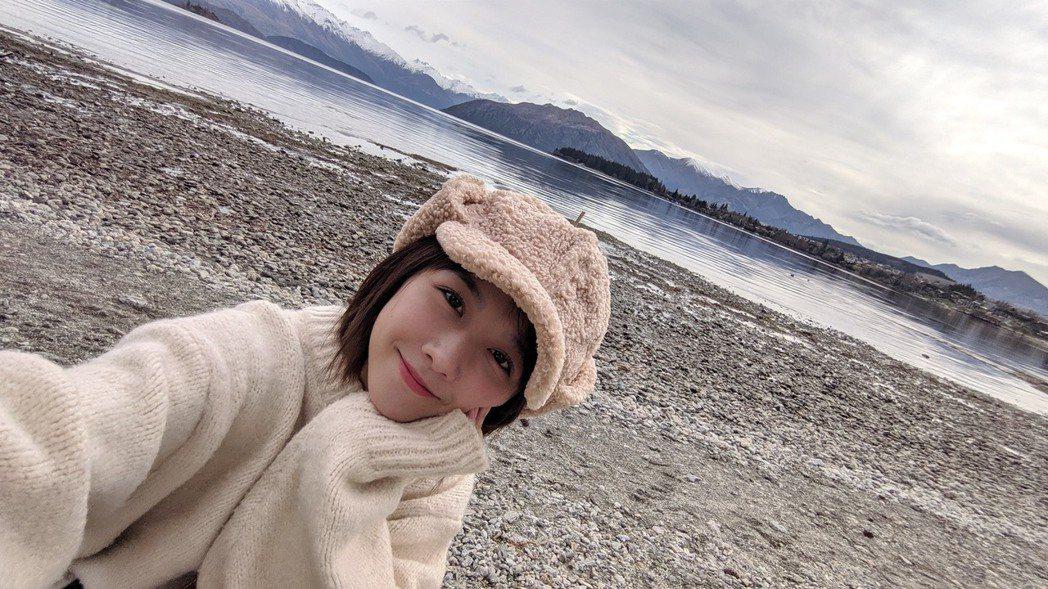 邵雨薇送給自己的30 歲生日就是去紐西蘭旅行。圖/多曼尼提供