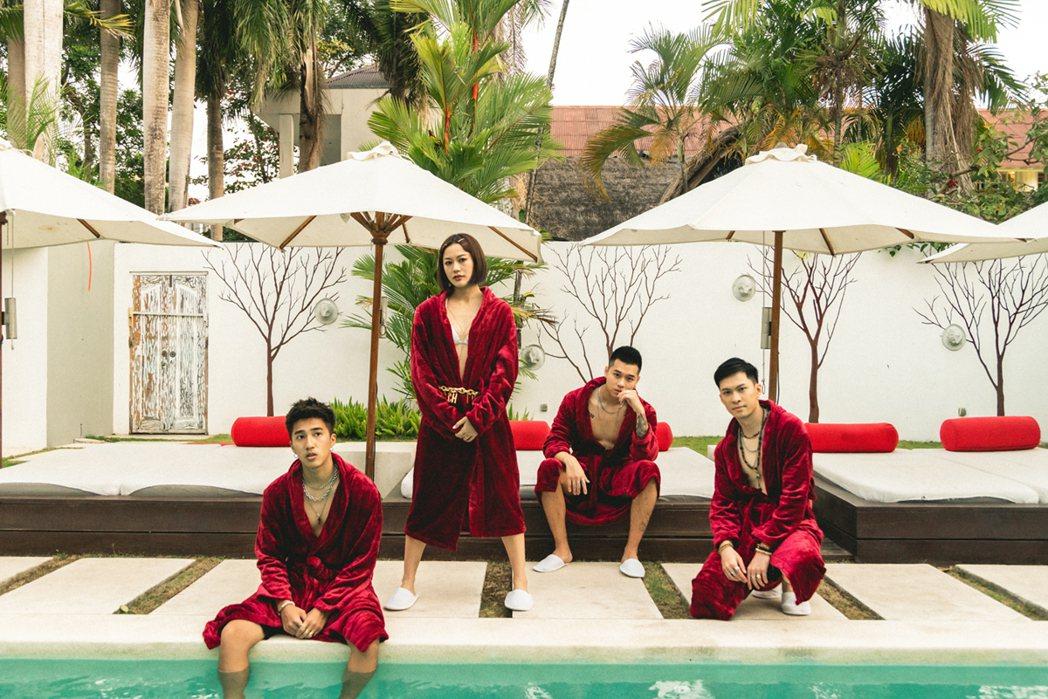 「Ching G Squad」成員婁峻碩(左起)、芮德、高爾宣、唐仲彣。圖/華風...