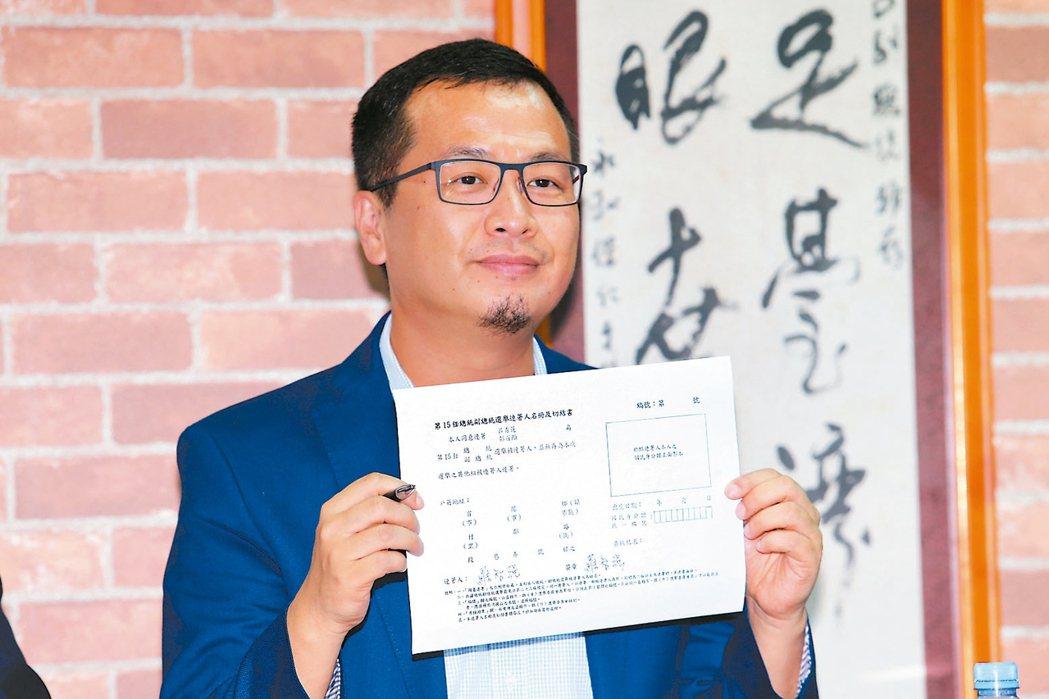 羅智強連署呂 票還是投韓前副總統呂秀蓮昨天舉辦座談會,邀請羅智強(圖)等人出...