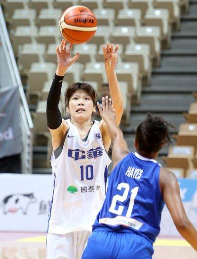 蔡佩真再披中華女籃隊戰袍,目標亞洲盃打進四強。圖/聯合報系資料照片