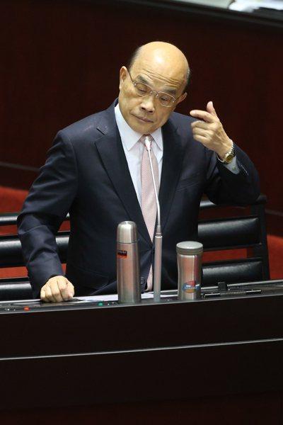 行政院院長蘇貞昌上午赴立法院接受質詢。記者葉信菉/攝影