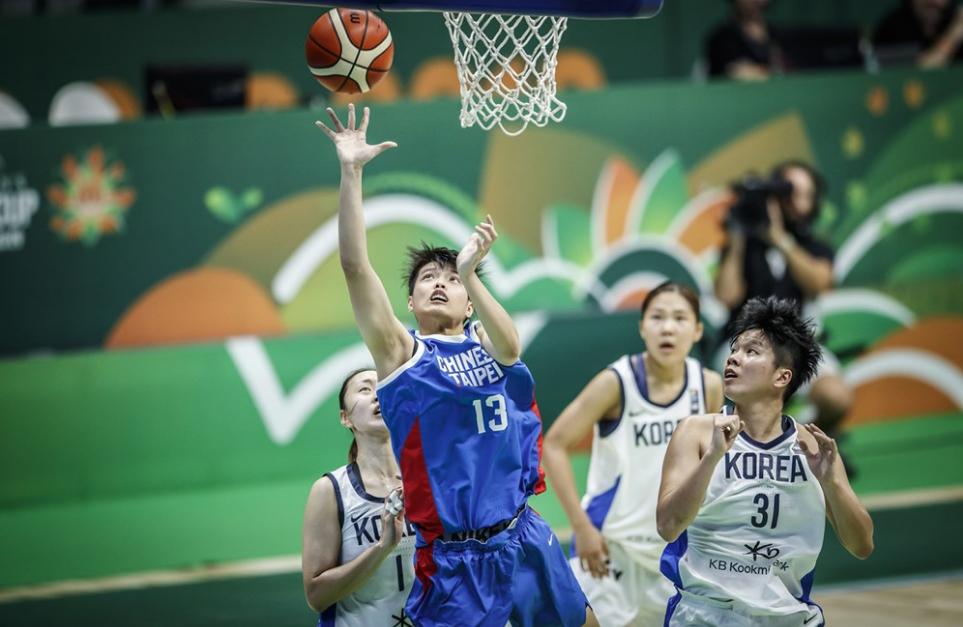 中華隊鄭伊秀(中)攻下全隊最高。 圖/取自FIBA官網
