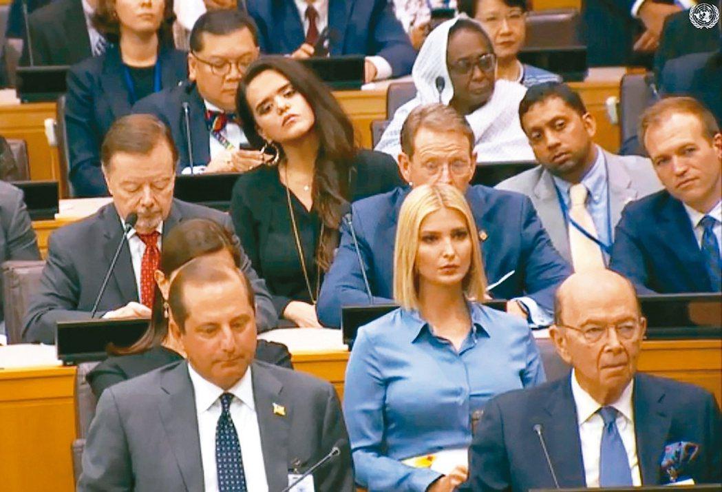 美國總統川普23日主持於紐約聯合國總部舉行的「全球呼籲保護宗教自由」活動,我駐紐...