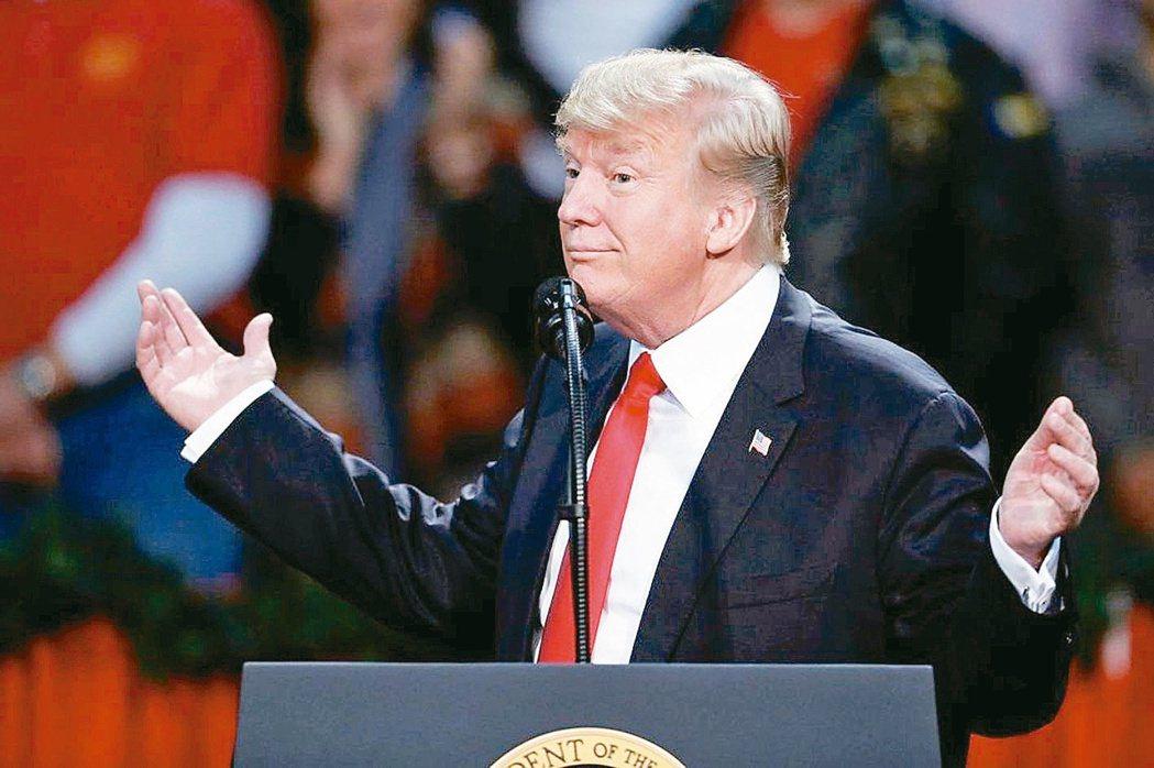 美國總統川普2017年12月正式簽署「2018財政年度國防授權法」。 (路透)