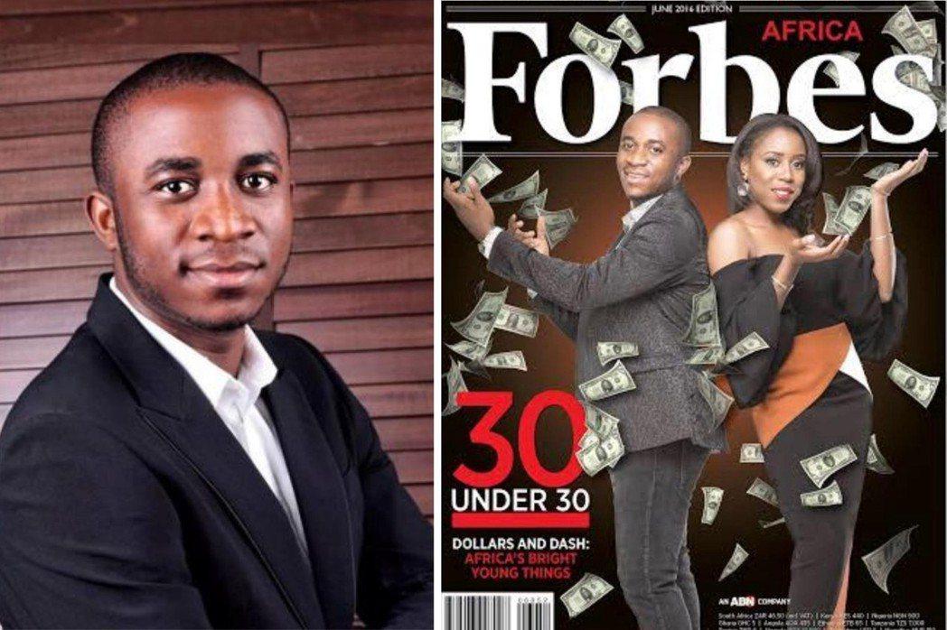 歐克凱在奈及利亞被視為青年楷模,甚至上過富比士雜誌的封面。 圖/摘自網路