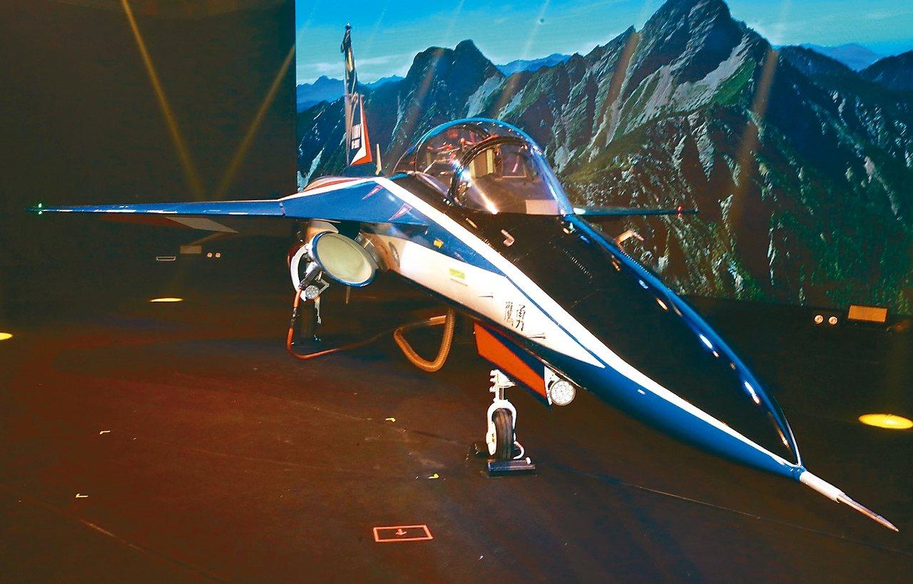 空軍新式高教機以「勇鷹」命名。 記者黃義書/攝影