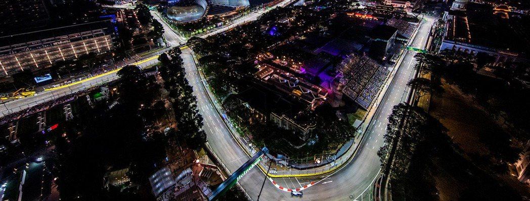 新加坡Marina Bay街道賽道。 摘自F1