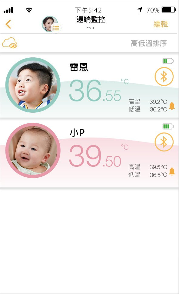Temp Pal可遠端監控體溫,爸媽上班不用擔心小孩的溫度。 愛微科/提供