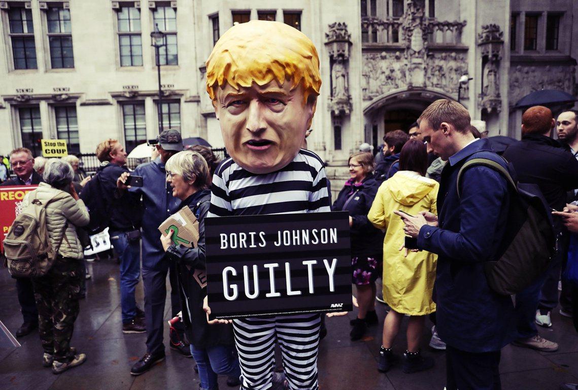 英國最高法院24日上午,針對首相鮑里斯.強生(Boris Johnson)以籌備...
