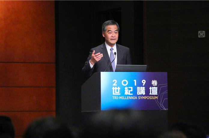香港前特首梁振英昨日出席世紀講壇時,表示香港是法治社會,香港特區政府、警方及整個...