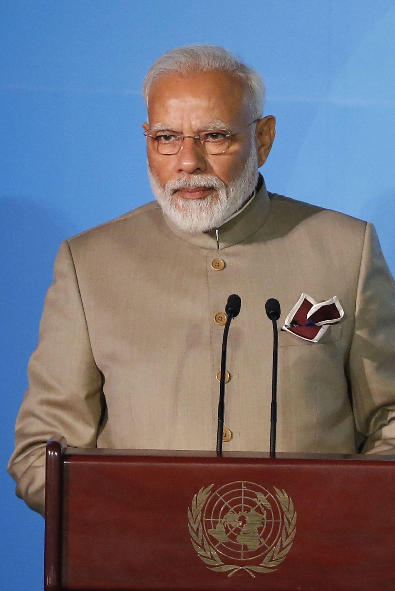 莫迪前往紐約參加聯合國會議行前,為印度股市送上減稅大禮。美聯社