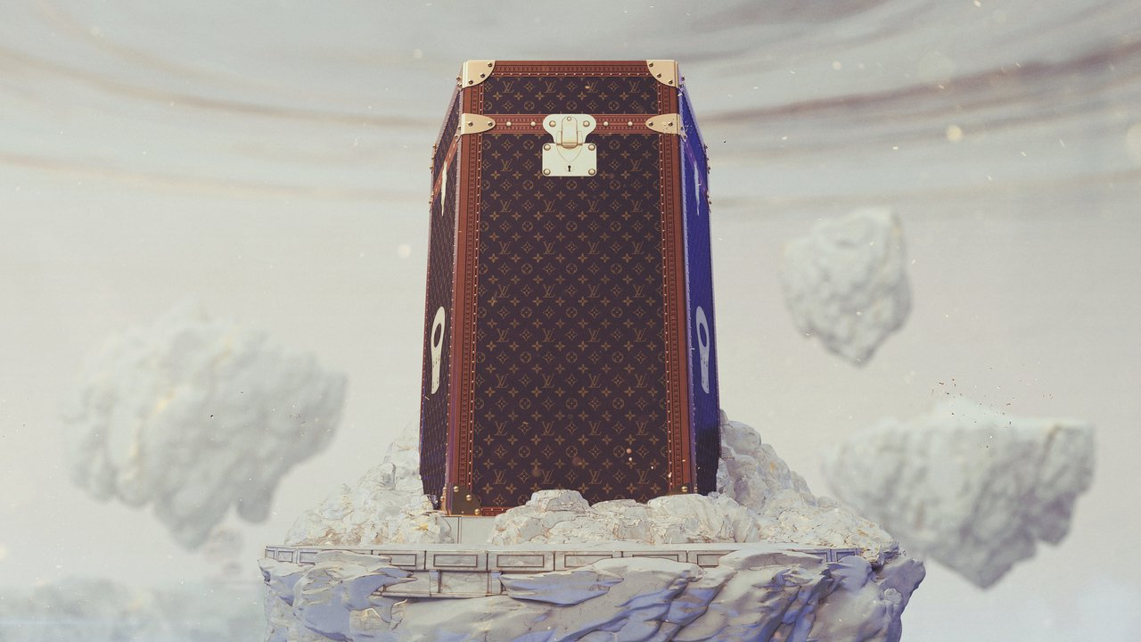 路易威登打造英雄聯盟冠軍獎盃手提箱,是話題新作。圖/LV提供