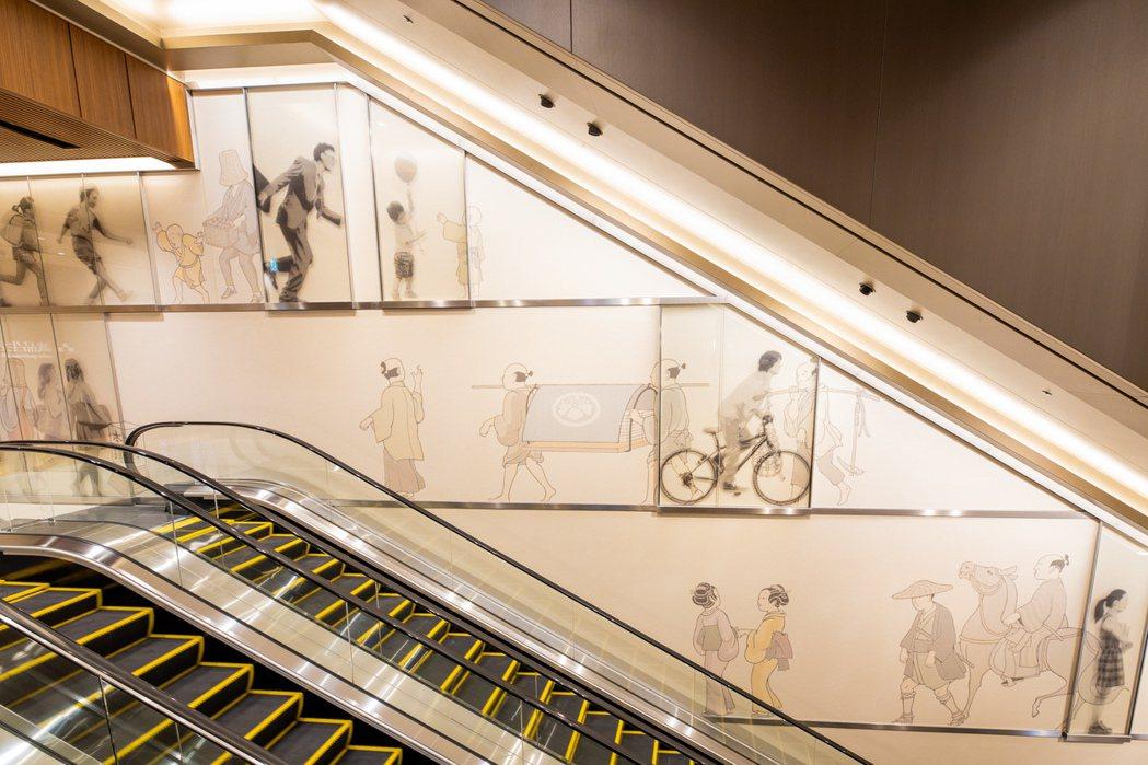 誠品生活日本橋空間設計,融合江戶時代特色與當代日本工藝精神設計。圖/誠品提供