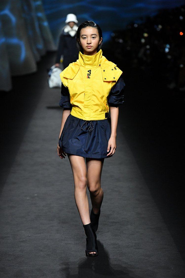 FILA特別邀請日本超新星木村光希首登米蘭時尚周伸展台。圖/FILA提供