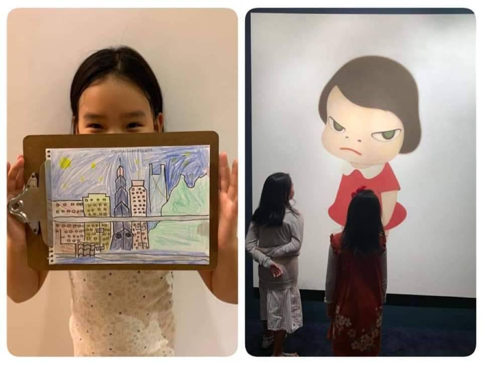 Melody的女兒對藝術頗有天分。圖/摘自臉書