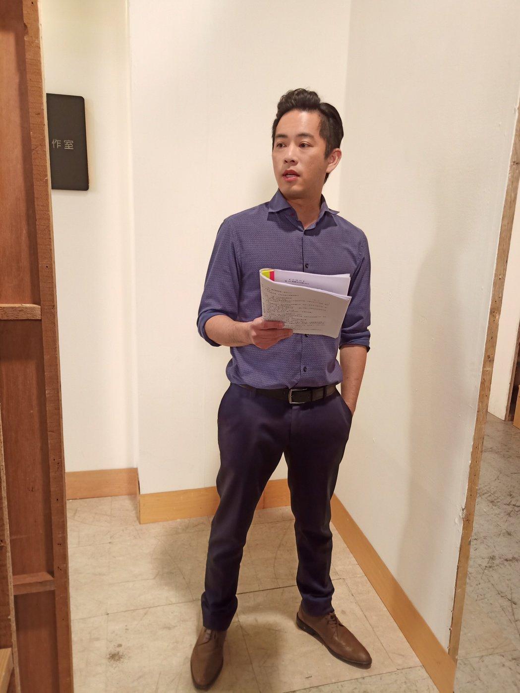 韓宜邦日前殺青8點檔「大時代」。圖/艾迪昇傳播提供