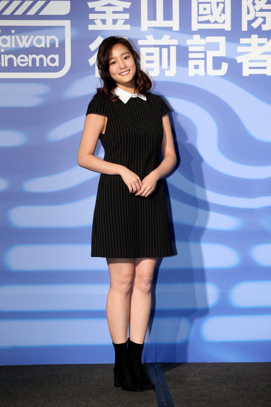 2019年釜山影展行前記者會,電影返校演員王凈。記者邱德祥/攝影