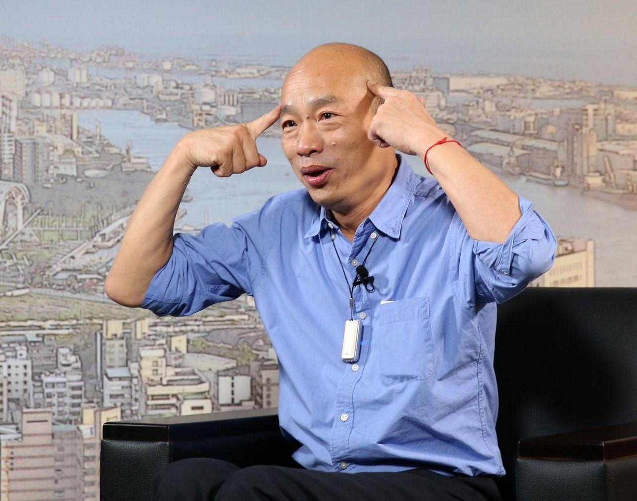 高市議員質詢太平島挖石油一事,高雄市長韓國瑜回說「我有白紙黑字嗎?」圖/聯合報系...