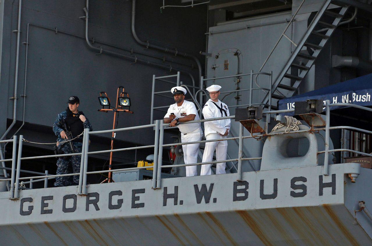 當局著手調查航空母艦「布希號」四名海軍水兵接連自殺案件。(Getty Image...