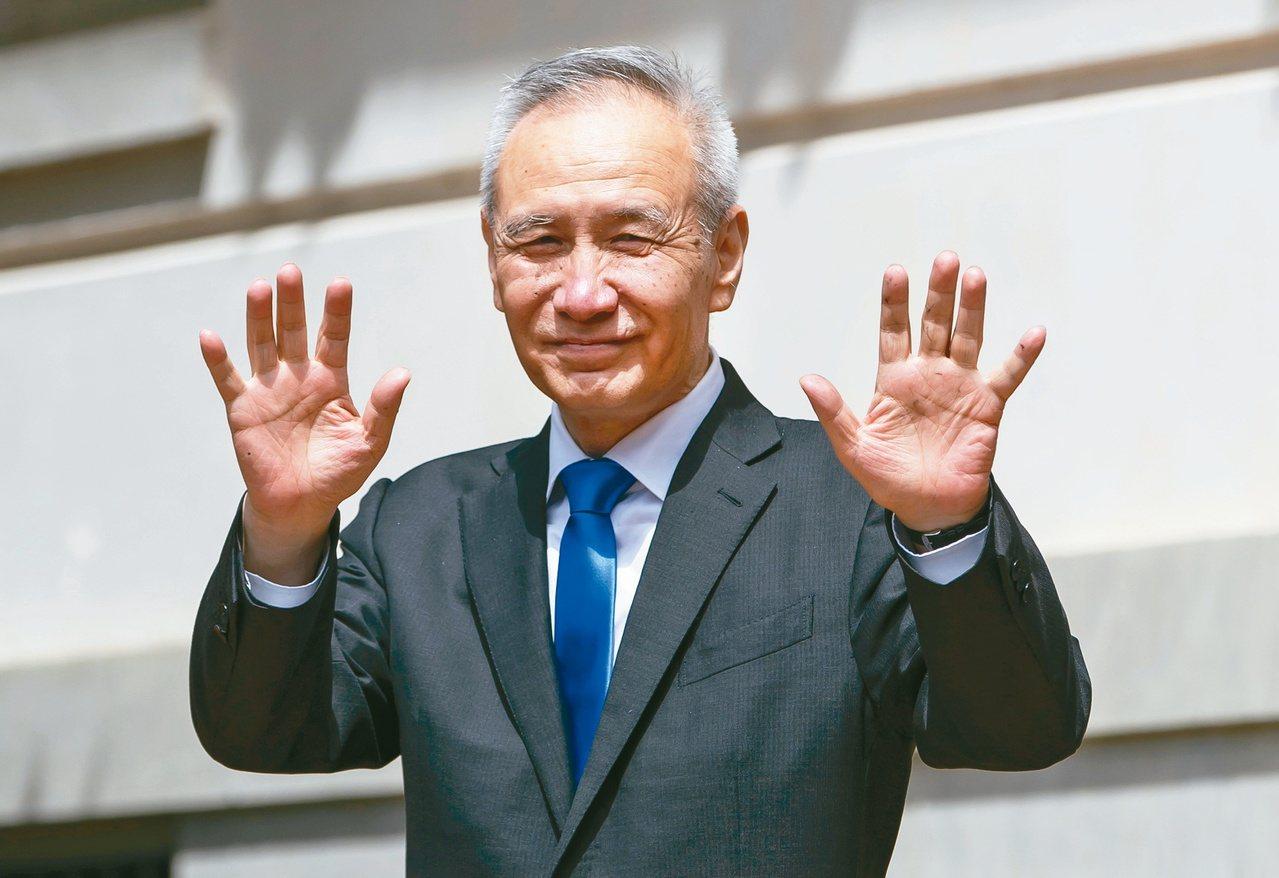 中國國務院副總理劉鶴。歐新社