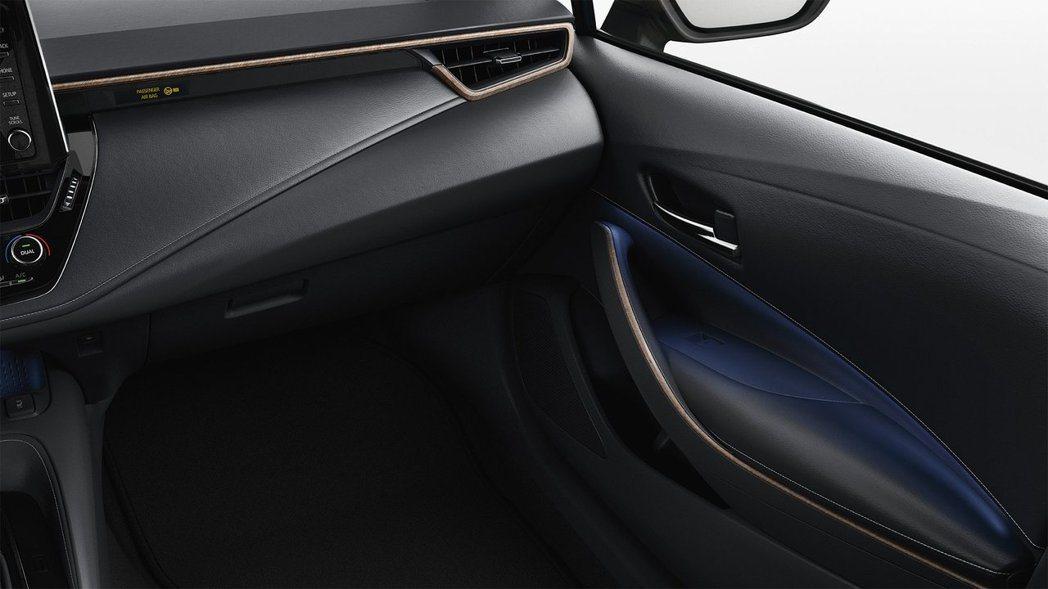 Toyota Corolla TREK車內使用了木質飾板作為裝飾。 摘自Toyo...