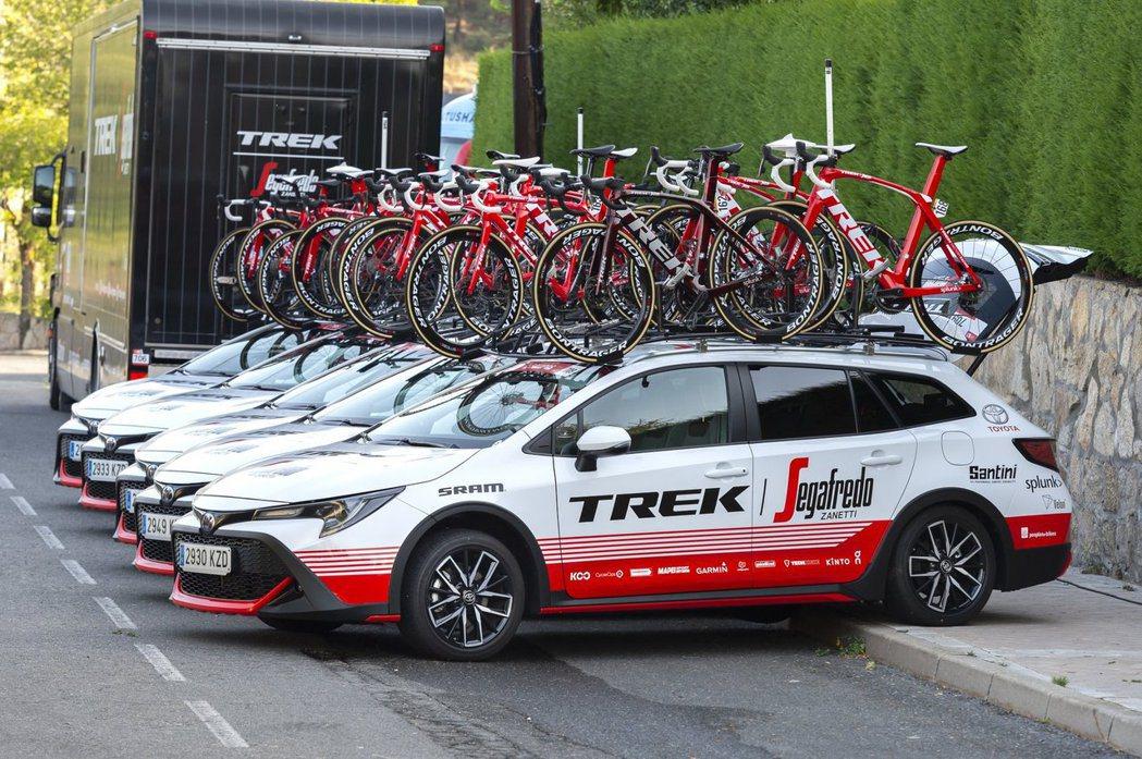 Toyota Corolla TREK在日前舉辦的環西自行車賽首度公開亮相。 摘...