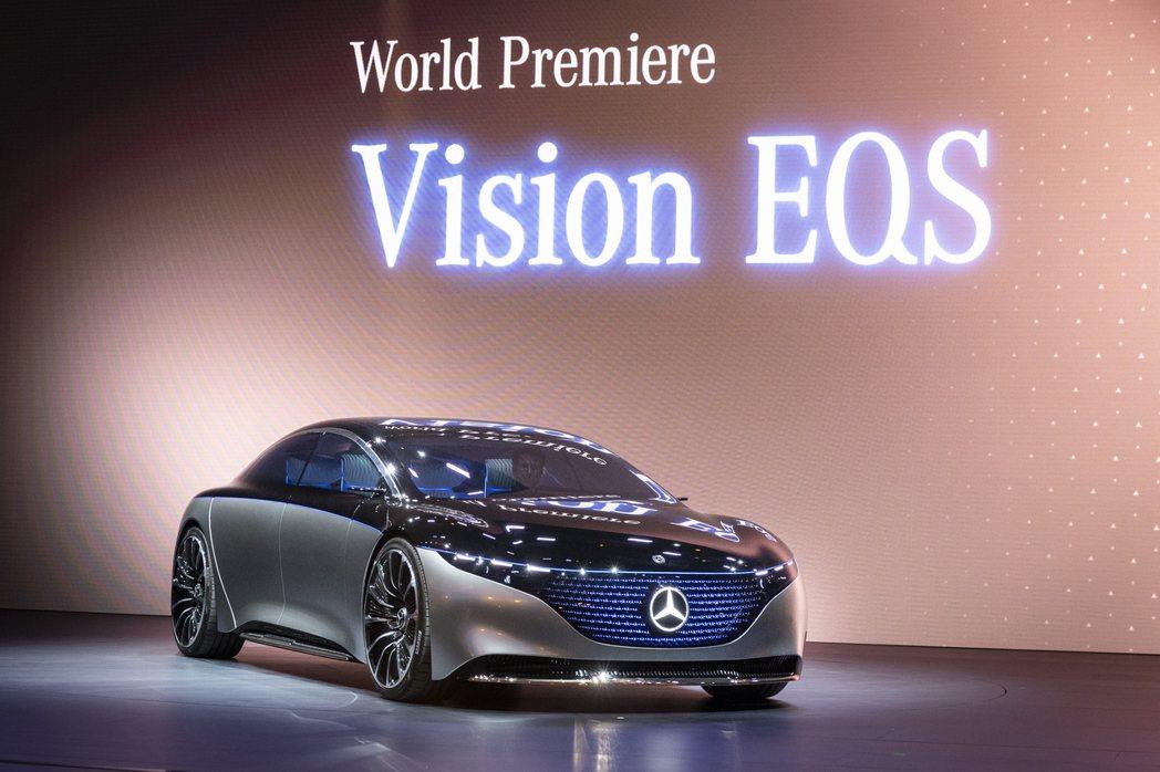 Mercedes-Benz Vision EQS電動概念車在法蘭克福車展上正式發...