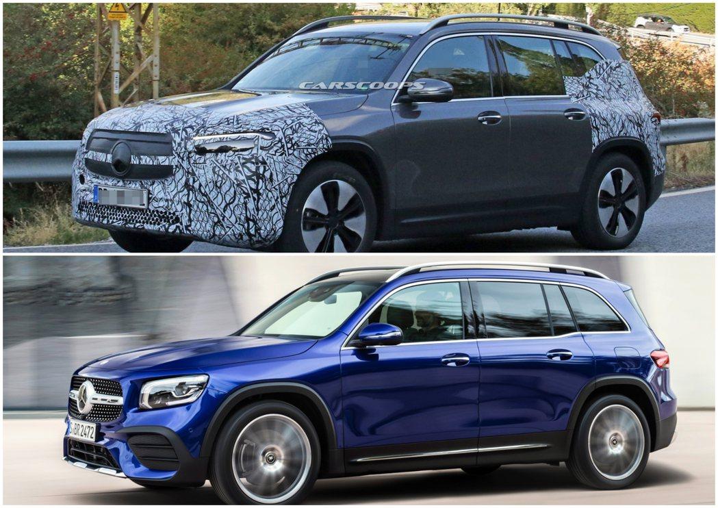 全新Mercedes-Benz EQB與GLB。 摘自Carscoops、Mer...