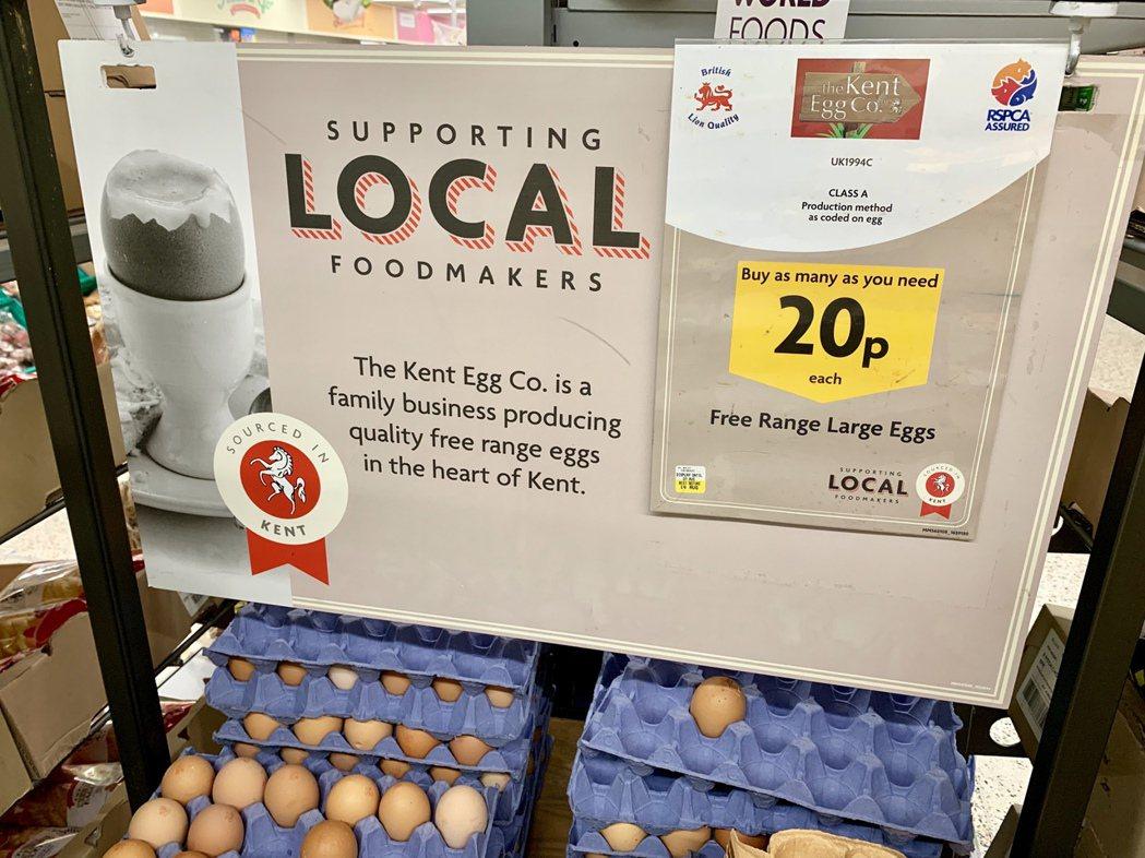 英國市售非籠飼雞蛋有高達9成就來自RSPCA。 照片/Paul Littlefa...