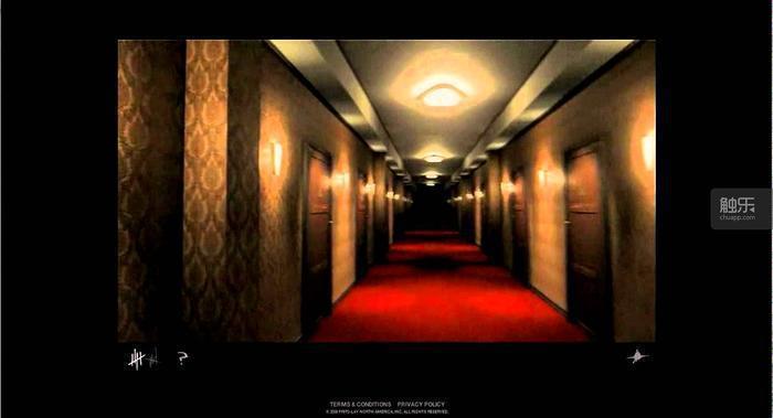 悠長的旅館迴廊