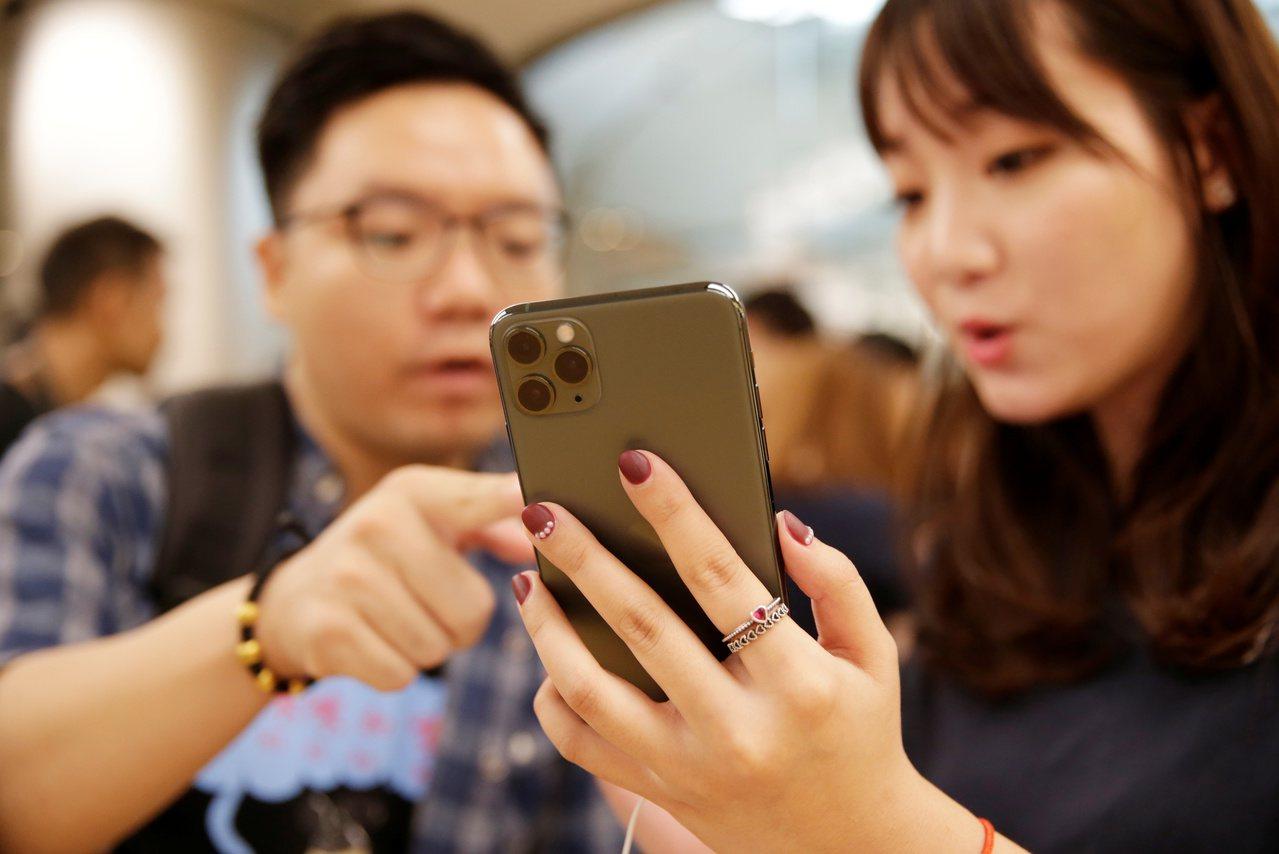蘋果iPhone 11 Pro Max。 路透社