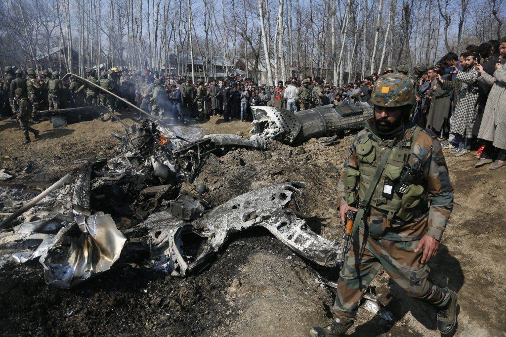 今年2月27日,印巴戰機空中駁火,一架印度戰機墜毀在印控「查謨─喀什米爾邦」布德...