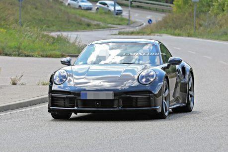 全新Porsche 911 Turbo測試車 雙車型無偽裝聯袂現身